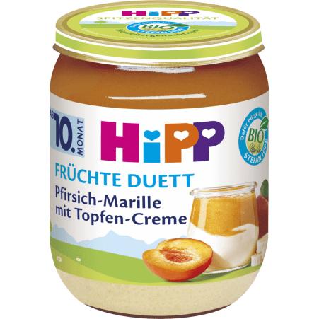 HiPP Früchte Duett Pfirsich-Marille mit Topfencreme 10. Monat
