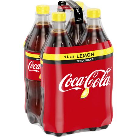Coca-Cola Zero Lemon Tray 4x 1,0 Liter