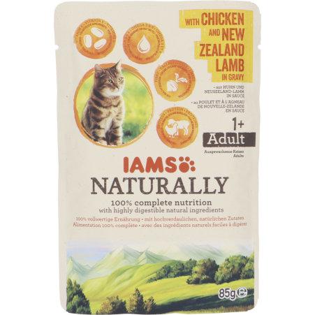 IAMS Naturally Katze Huhn und Lamm 85 gr