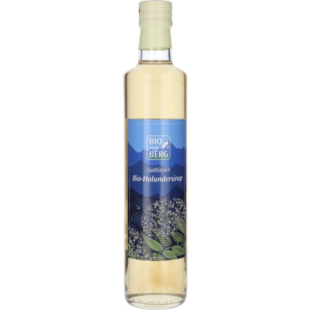 BIO vom BERG Bio Sirup Holunder 0,5 Liter