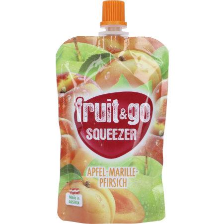 fruit&go SQUEEZER Squeezer Apfel-Marille-Pfirsich