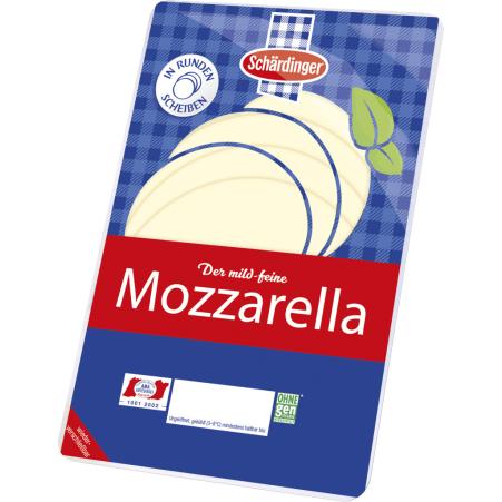 Schärdinger Mozzarella runde Scheibe 45%