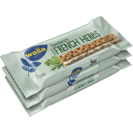 Wasa Cheese and French Herbs 3er-Packung