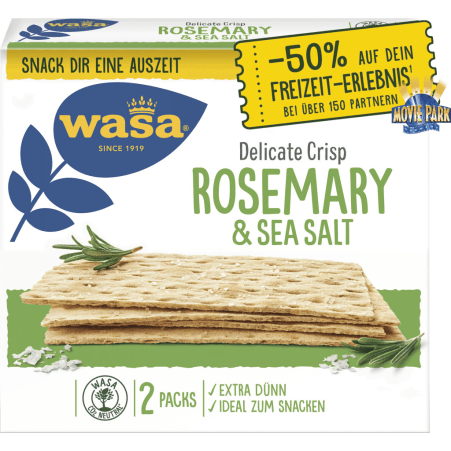 Wasa Thin Delicate Rosemary and Sea Salt