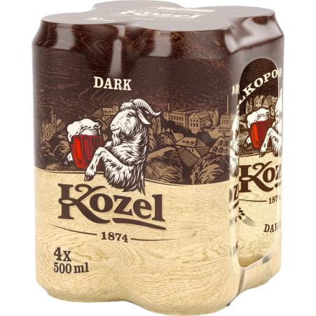 Kozel Dark Tray 4x 0,5 Liter