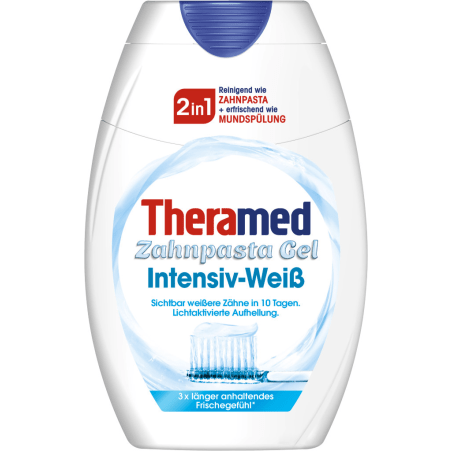 Theramed Zahnpasta Gel 2 in 1 Intensiv-Weiß