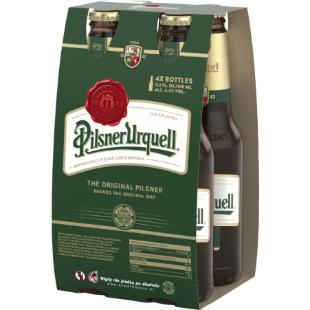 Pilsner Urquell Bier Tray 4x 0,33 Liter