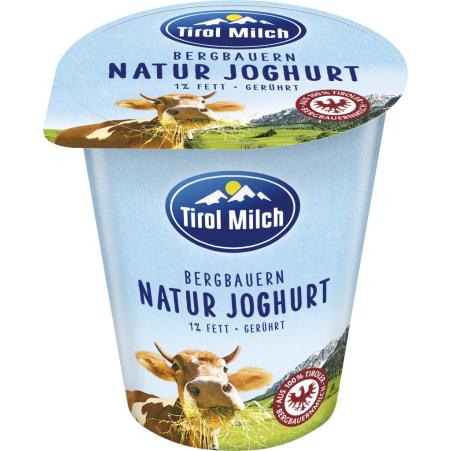 Tirol Milch Bergbauern Naturjoghurt 1,0% gerührt 500 gr