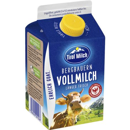 Tirol Milch Bergbauern Vollmilch 3,5% 0,5 Liter