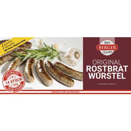 Berger Original Rostbratwürstel