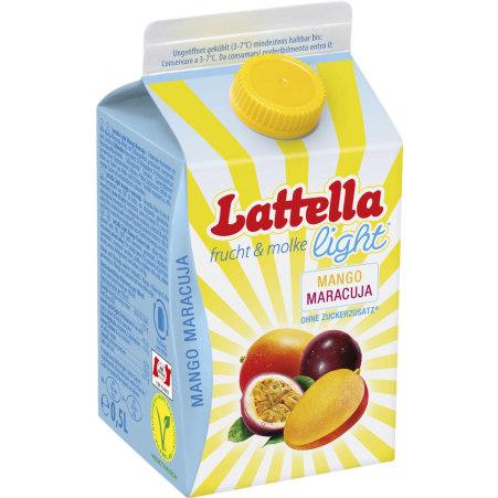 Lattella Frucht & molke light Mango-Maracuja 0,5 Liter
