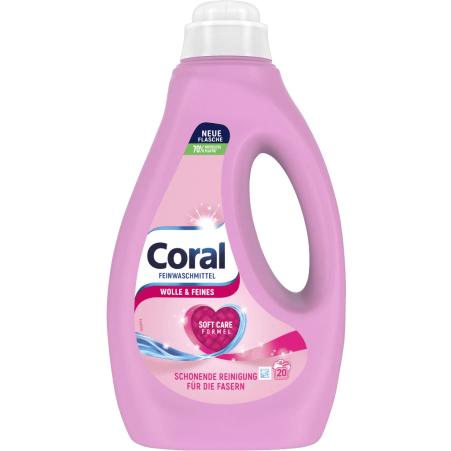Coral Wolle & Seide Flüssigwaschmittel 22 Waschgänge