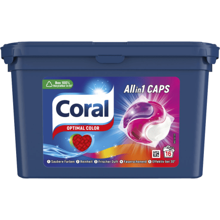 Coral 2 in 1 Caps Optimal Color 16 Waschgänge