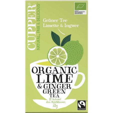 Cupper Grüner Tee Limette & Ingwer