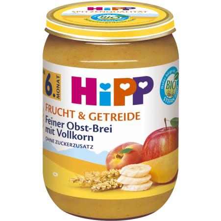 HiPP Feiner Obstbrei mit Vollkorn 6. Monat