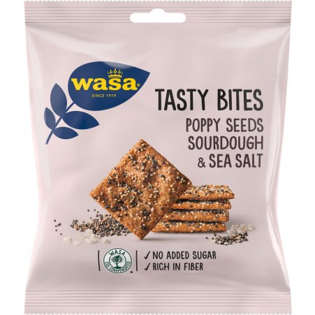 Wasa Tasty Bites Mohn Meersalz
