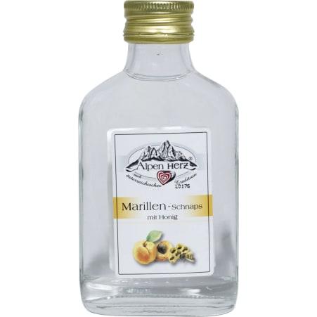 Alpenherz Marillen-Schnaps mit Honig 35% 0,1 Liter