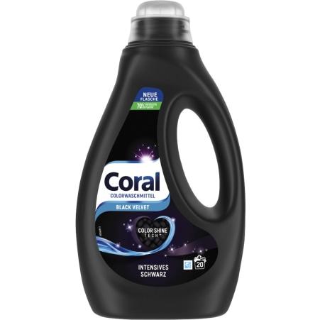 Coral Black Velvet Flüssigwaschmittel 22 Waschgänge