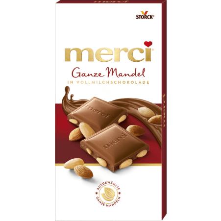 merci Vollnusstafel Merci Ganze Mandeln Schokolade