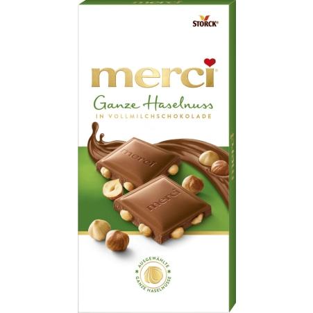 merci Vollnusstafel Merci Ganze Nuss Schokolade