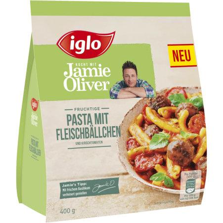 Iglo Jamie Oliver Pasta mit Fleischbällchen