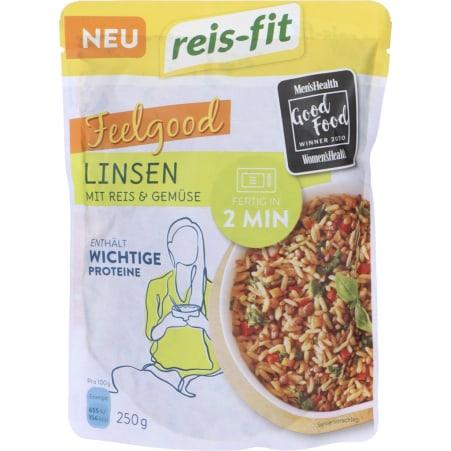 Reis Fit Linsen mit Reis & Gemüse