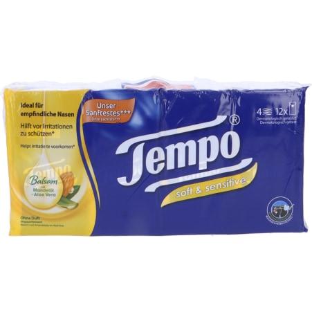 TEMPO Taschentücher Soft & Sensitive 12x 9 Stück 4-lagig