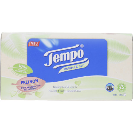 TEMPO Taschentücher Box Natural & Soft