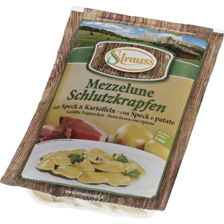 Strauss Schlutzkrapfen Speck und Kartoffel