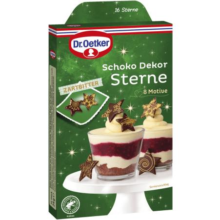 Dr. Oetker Schoko Dekor Sterne gold