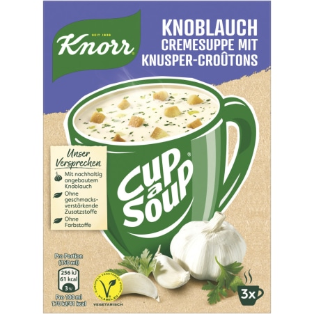 Knorr Cup a Soup Instantsuppe Knoblauch