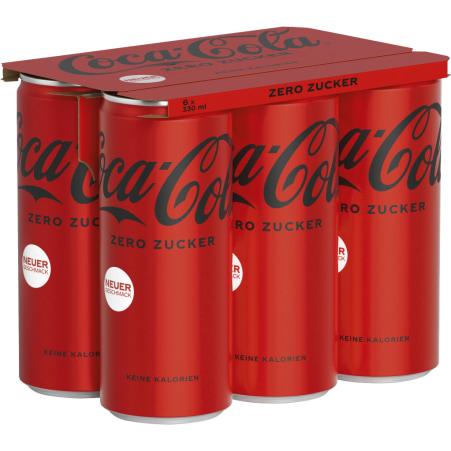 Coca-Cola Zero Tray 6x 0,33 Liter Dose