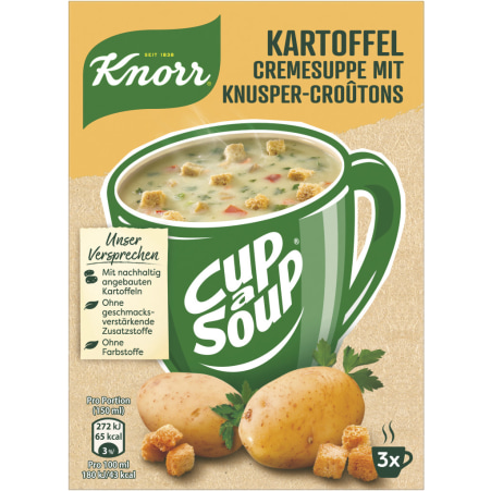 Knorr Cup a Soup Instantsuppe Kartoffelcreme