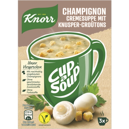 Knorr Cup a Soup Instantsuppe Champignon