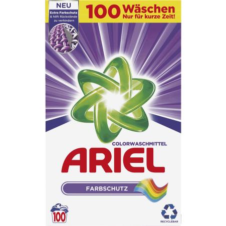 Ariel Colorwaschmittel-Pulver Farbschutz 100 Waschgänge