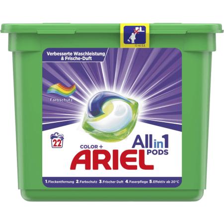 Ariel 3 in 1 Pods Colorwaschmittel 22 Waschgänge
