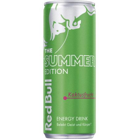 Red Bull The Green Edition Energy Drink Kaktusfrucht 0,25 Liter Dose