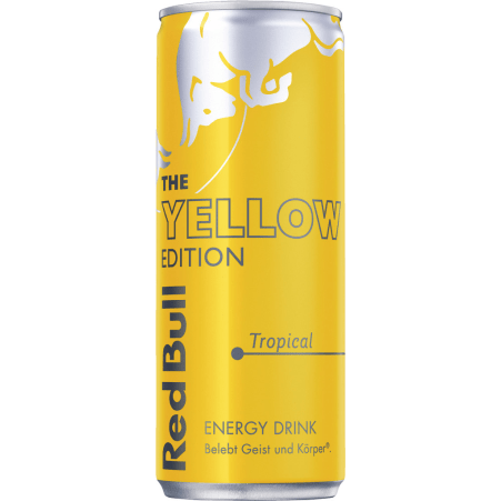 Red Bull The Yellow Edition Energy Drink Tropical 0,25 Liter Dose