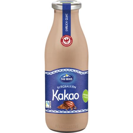 Tirol Milch Bergbauern Kakao Glasflasche