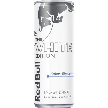Red Bull The White Edition Energy Drink Kokos-Blaubeere 0,25 Liter Dose