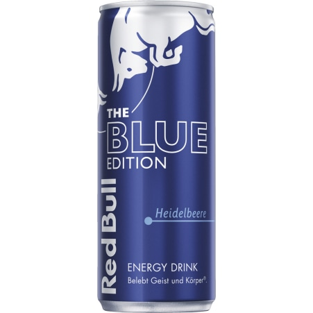 Red Bull The Blue Edition Energy Drink Heidelbeere 0,25 Liter Dose