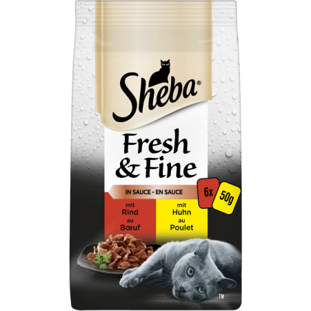 SHEBA Fresh & Fine Herzhafte Komposition 6x 50 gr