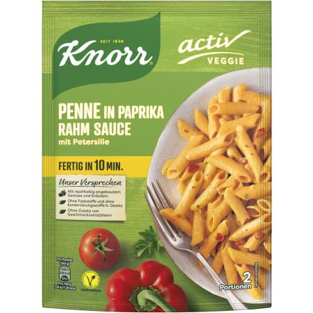 Knorr Activ Veggie Penne in Paprika Rahm