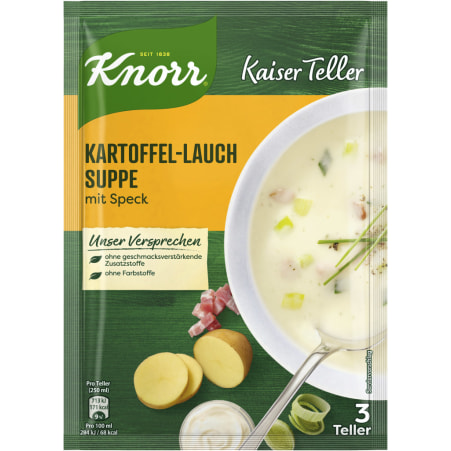 Knorr Kaiser Teller Kartoffelcremesuppe