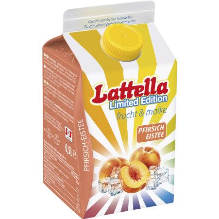 Lattella frucht & molke Limited Edition Pfirsich-Eistee 0,5 Liter