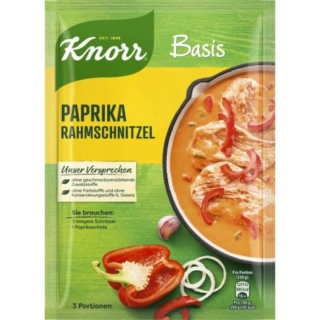 Knorr Basis Paprika-Rahmschnitzel