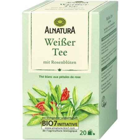 Alnatura Bio Weißer Tee mit Rosenblüten