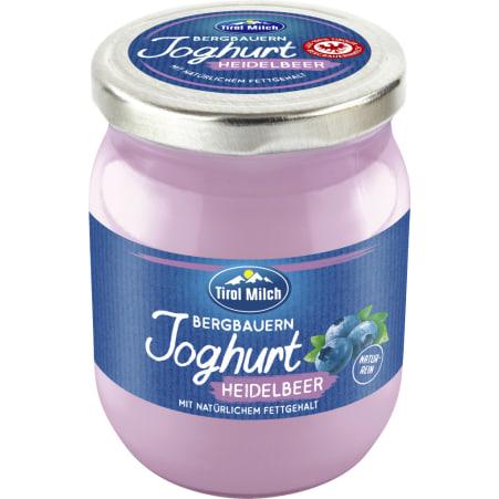Tirol Milch Bergbauern Joghurt Heidelbeer Glas