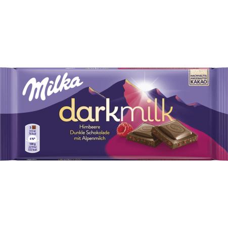 MILKA Schokolade Darkmilk Himbeer