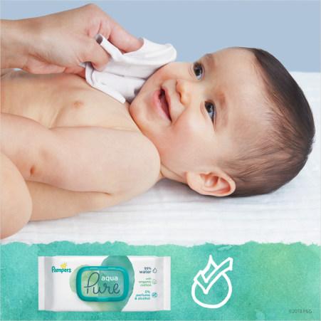 Pampers Feuchttücher Aqua Pure 3er-Packung